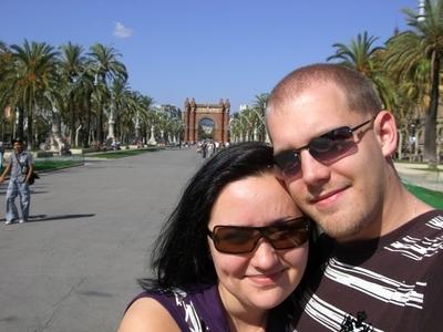 Wir am Arc de Triomf