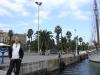 Ich am Hafen von Barcelona