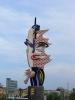 Skulptur am Hafen von Barcelona