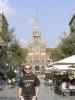 Ich vor dem Hospital de Sant Pau