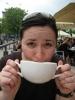 Alice beim Kaffee an der Binnenalster