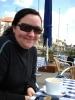Alice beim Frühstück an der Elbe