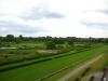 Blick vom Hotelzimmer auf die Horner Rennbahn