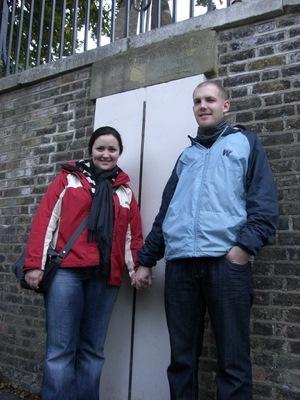 Wir in Greenwich auf dem Nullmeridian