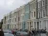 Typische Häuserreihe in Notting Hill