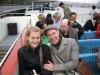 Jul und Georg bei der Bootsfahrt auf der Themse