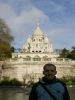 Ich vor der Basilique du Sacré-Cœur