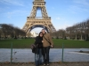 Wir vor dem Eiffelturm