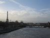 Die Seine mit Eiffelturm im Hintergrund