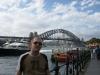 Alex vor der Harbour Bridge