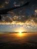 Sonnenaufgang über Australien aus dem Flugzeug