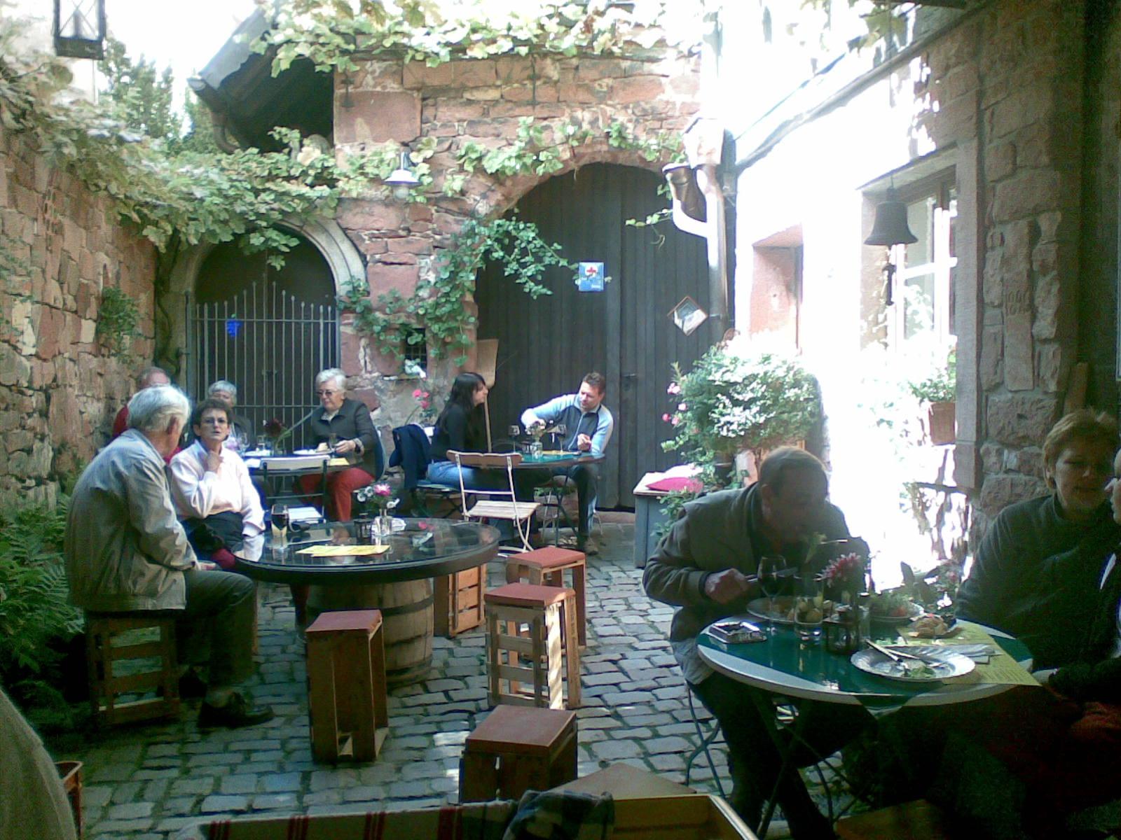 Der Hof des Weingutes