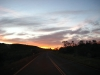 Sonnenaufgang auf dem Weg zum Karijini Nationalpark