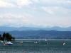 Zürichsee mit den Alpen im Hintergrund